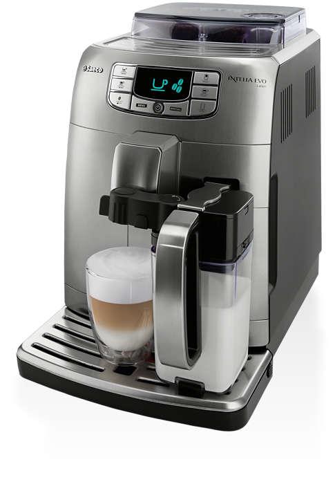 Espresso, Cappuccino und Latte Macchiato auf Knopfdruck