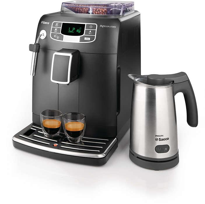 Espresso et mousse de lait à la simple pression d'un bouton