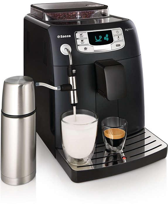 Espresso i mleczna pianka za jednym naciśnięciem przycisku
