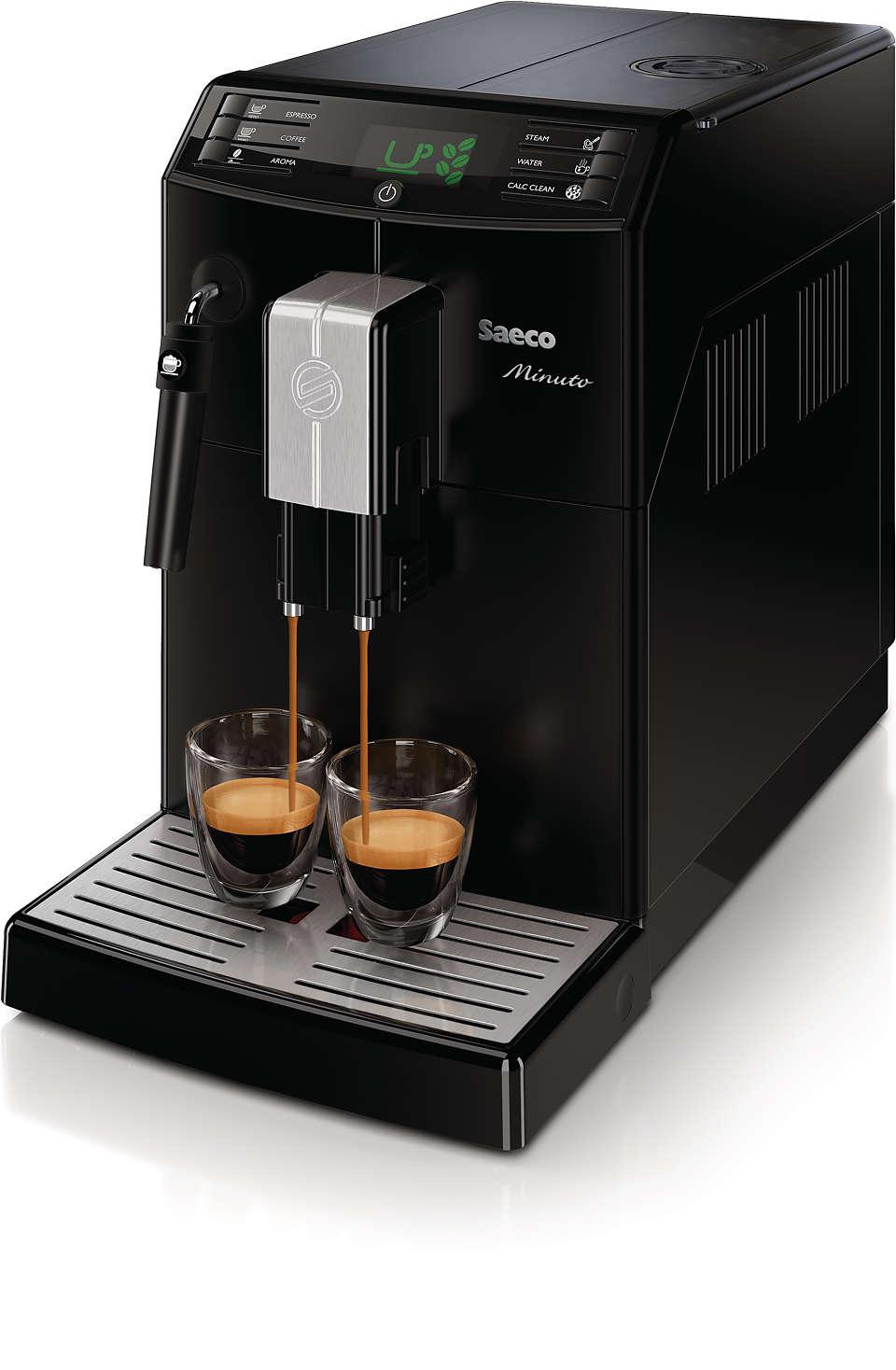 彈指之間即可享受您最愛的咖啡