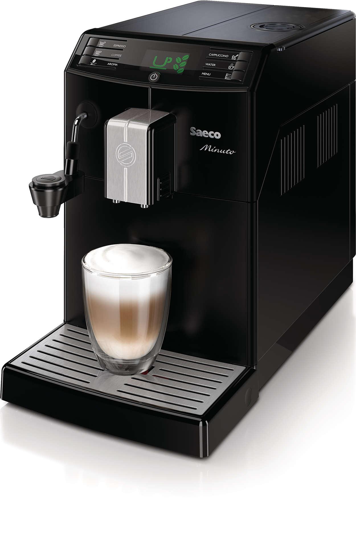 minuto cappuccino machine espresso automatique hd8762 01. Black Bedroom Furniture Sets. Home Design Ideas