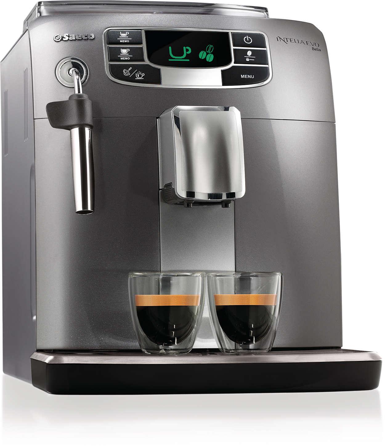 Espresso e cappuccino con un solo pulsante