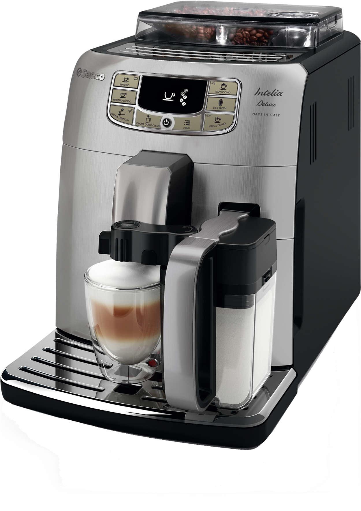 Intelia Deluxe Super Automatic Espresso Machine Hd8771 93
