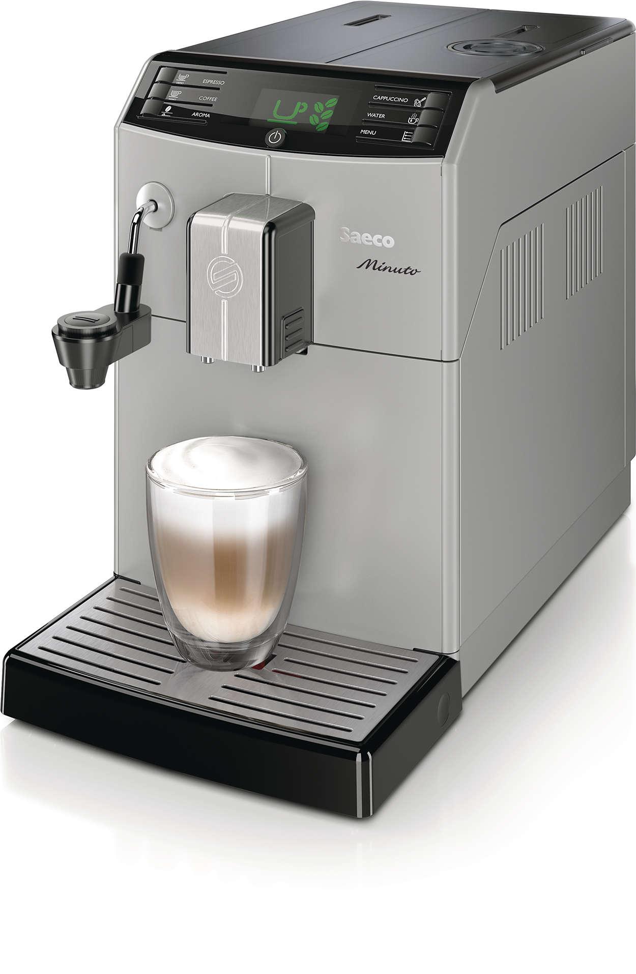Altijd uw favoriete koffie met één druk op de knop