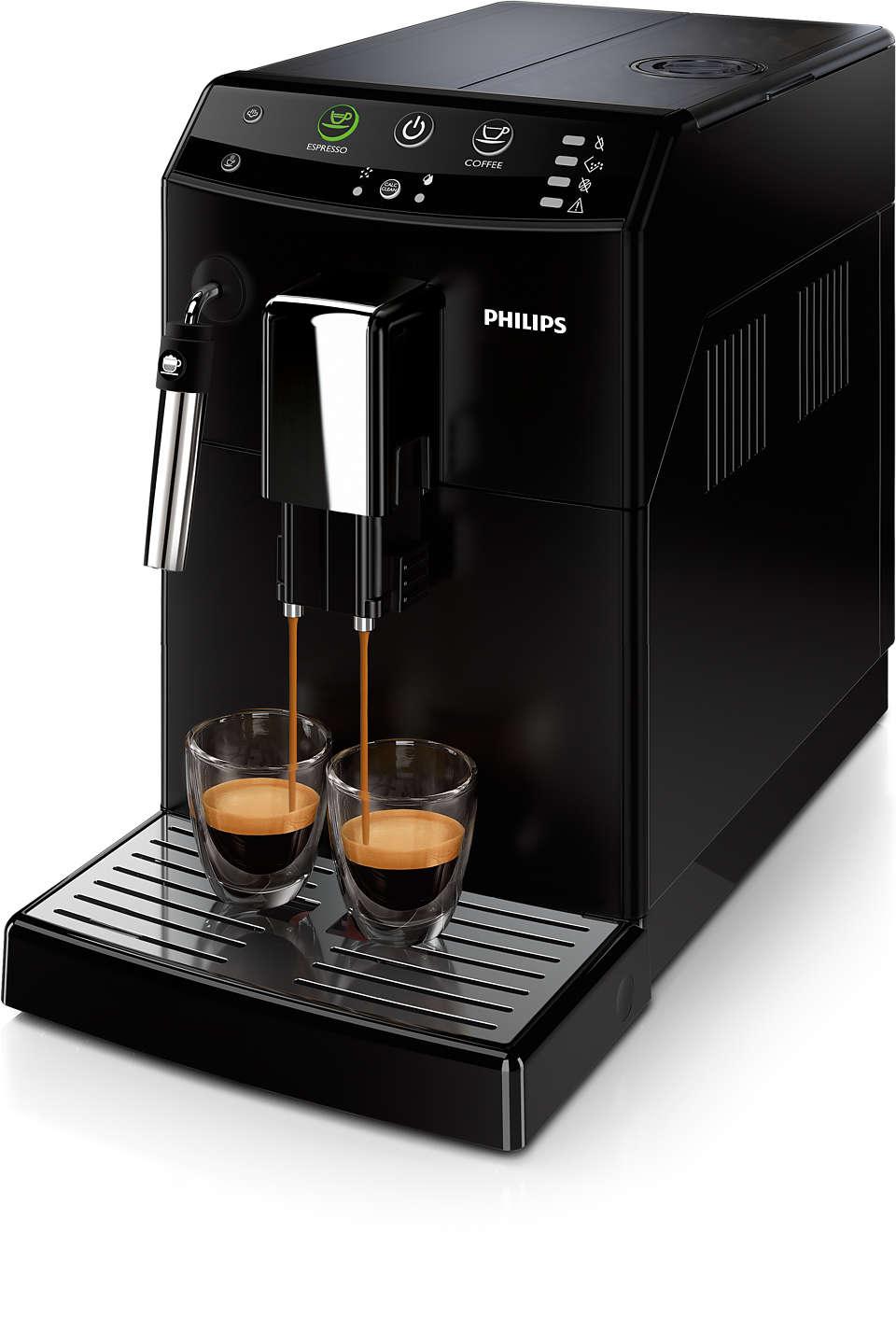 Altijd uw favoriete koffie met slechts één druk op de knop