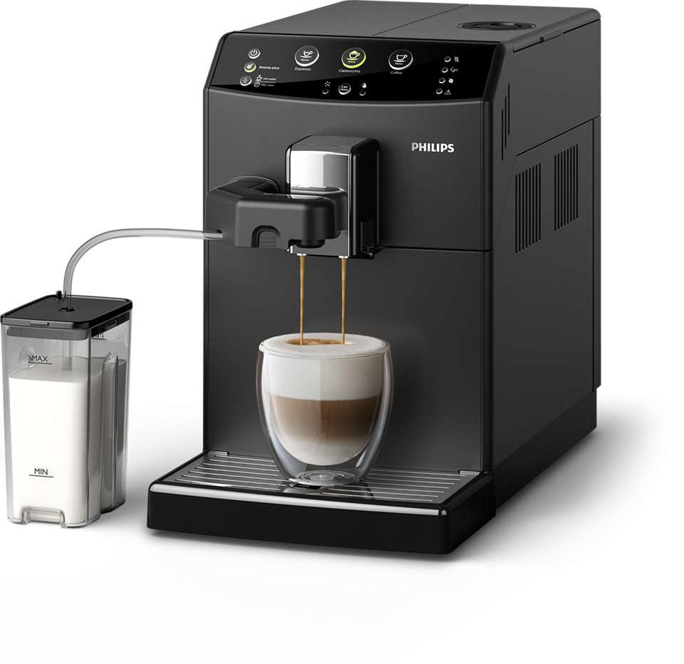 Din foretrukne cappuccino, kun et enkelt tryk væk
