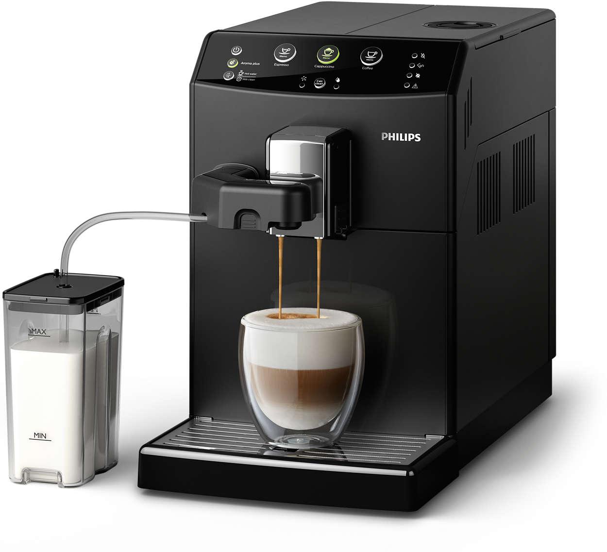 Uw favoriete cappuccino met één druk op de knop