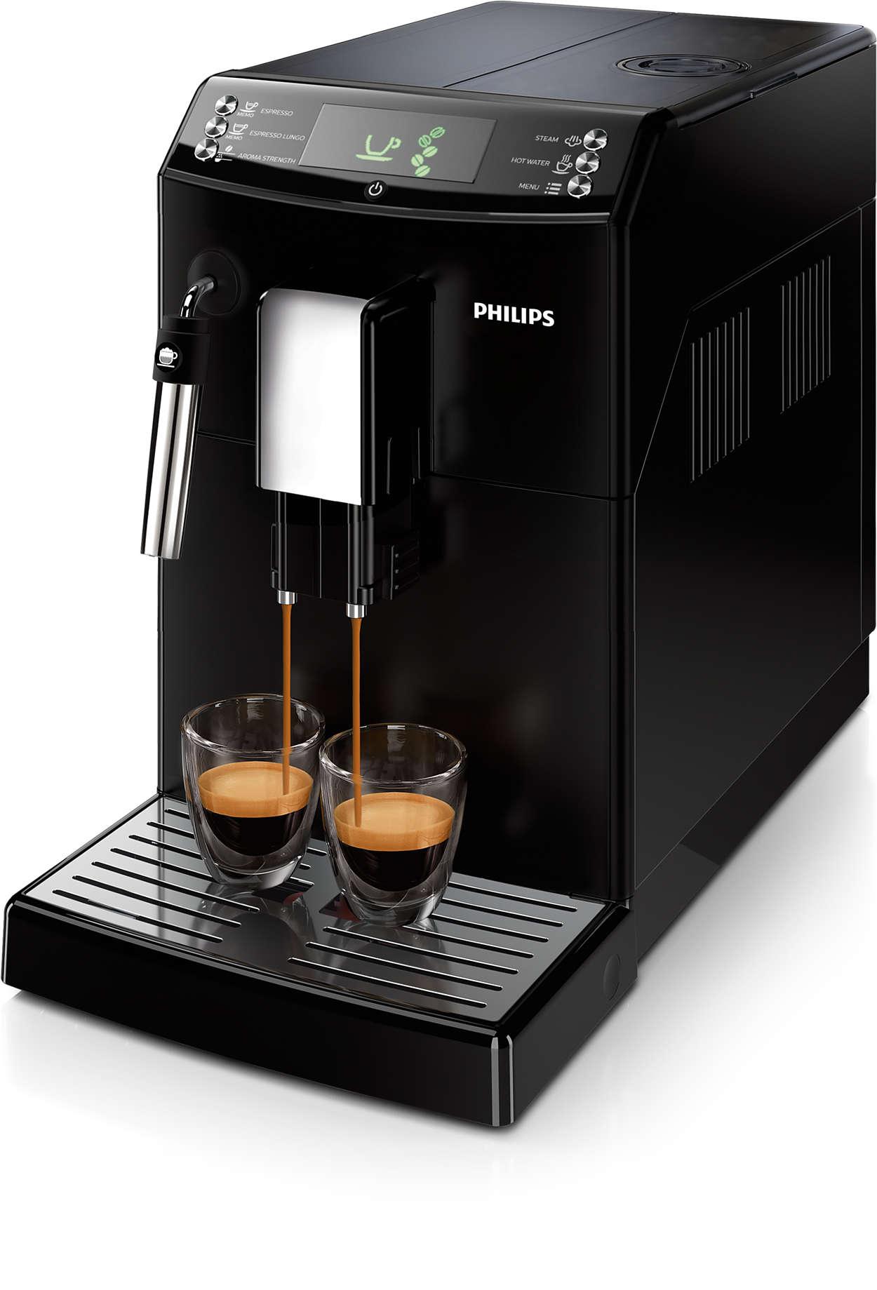 Kaffe med ét enkelt tryk, præcis som du ønsker det