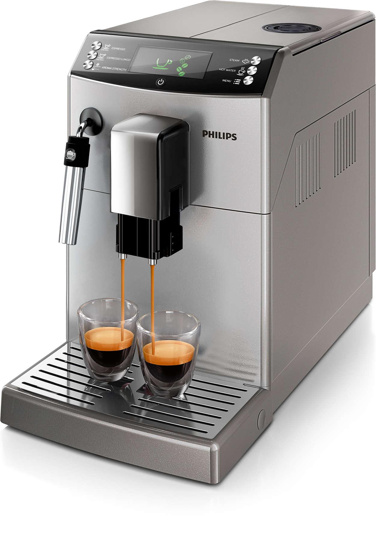 Café com um só toque, exactamente da forma que gosta