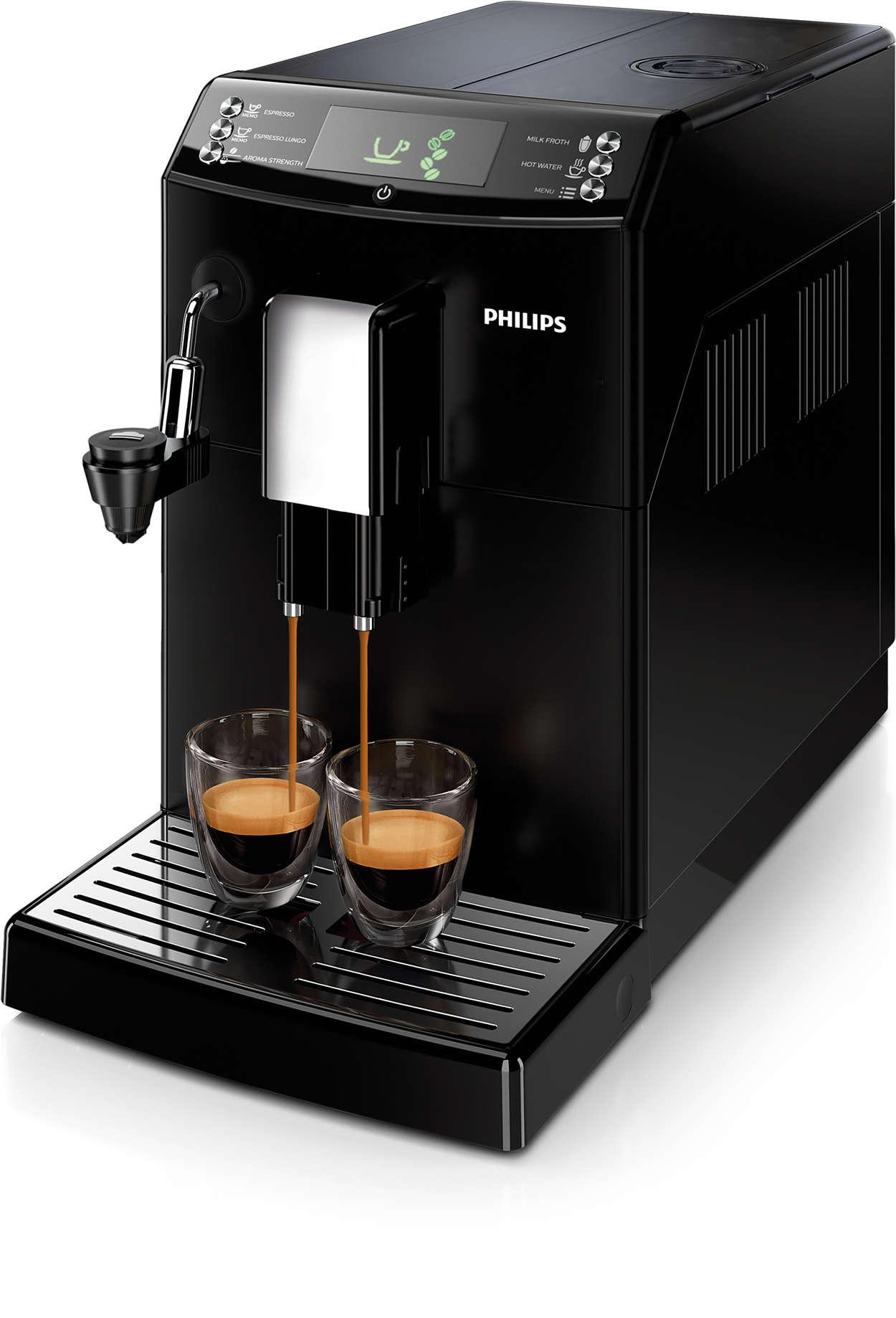 Kávé egyetlen érintésre, pontosan az ízlésének megfelelően