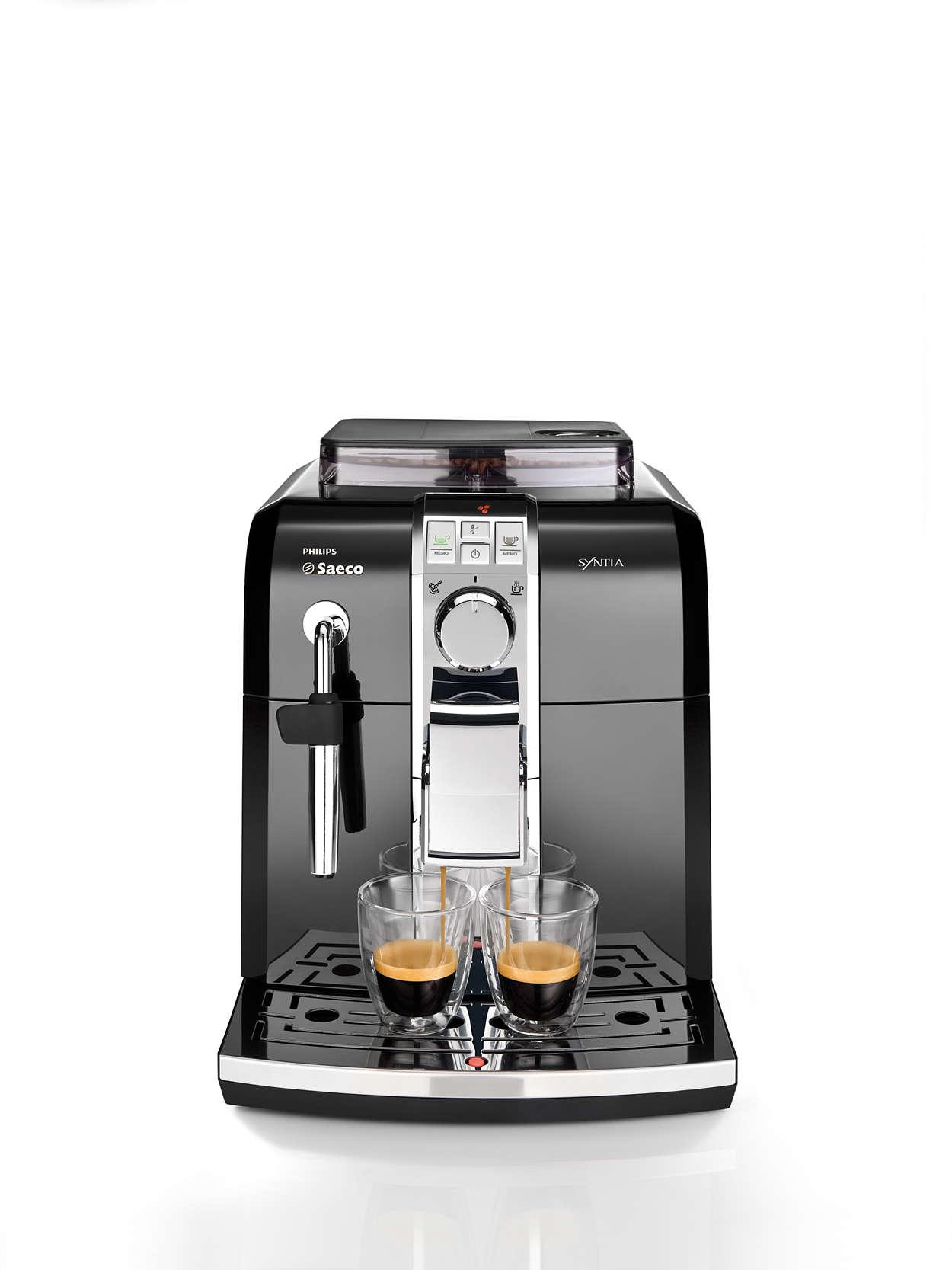 syntia kaffeevollautomat hd8833 11 saeco. Black Bedroom Furniture Sets. Home Design Ideas