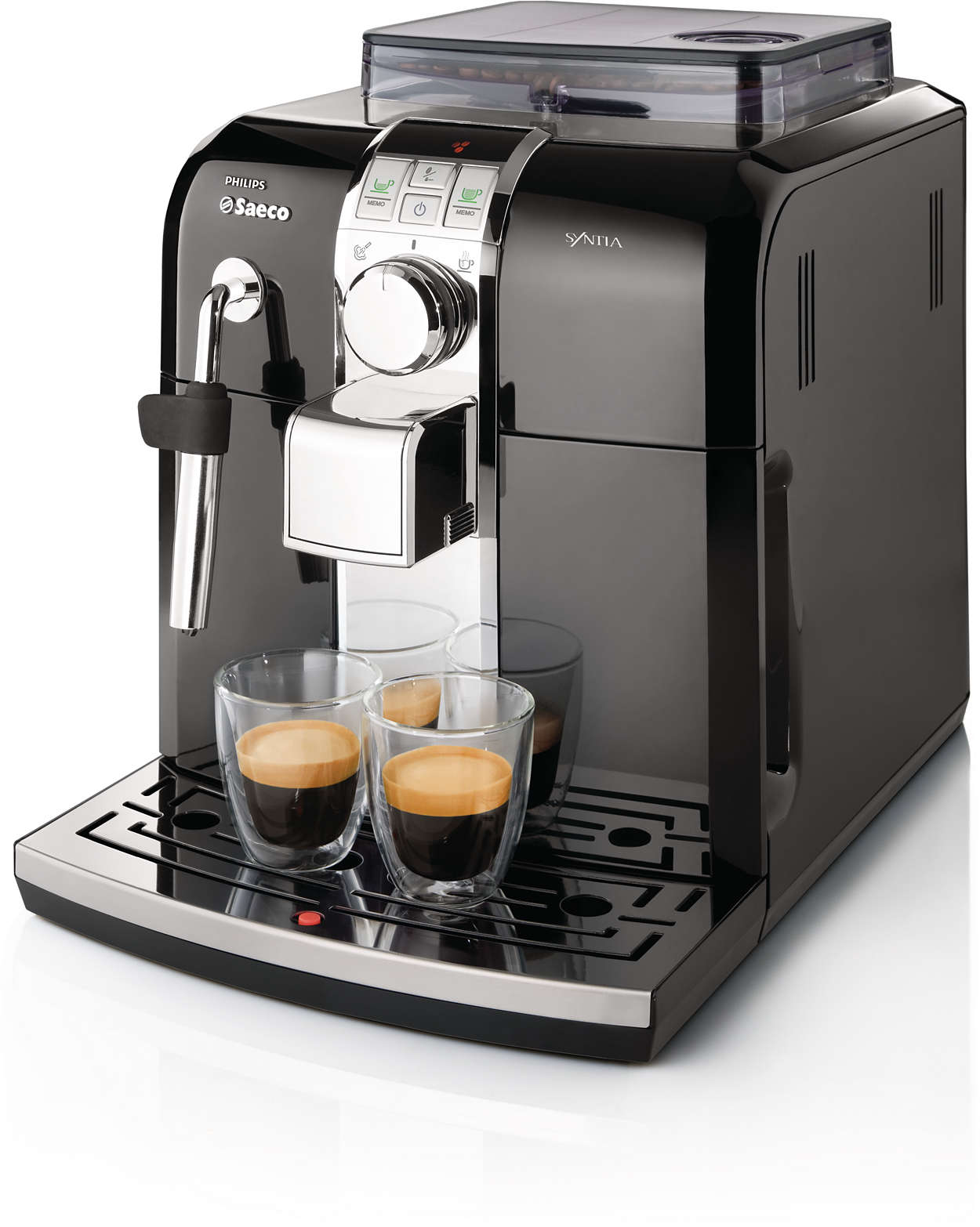 Italian Automatic Coffee Maker : Syntia Super-automatic espresso machine HD8833/47 Saeco