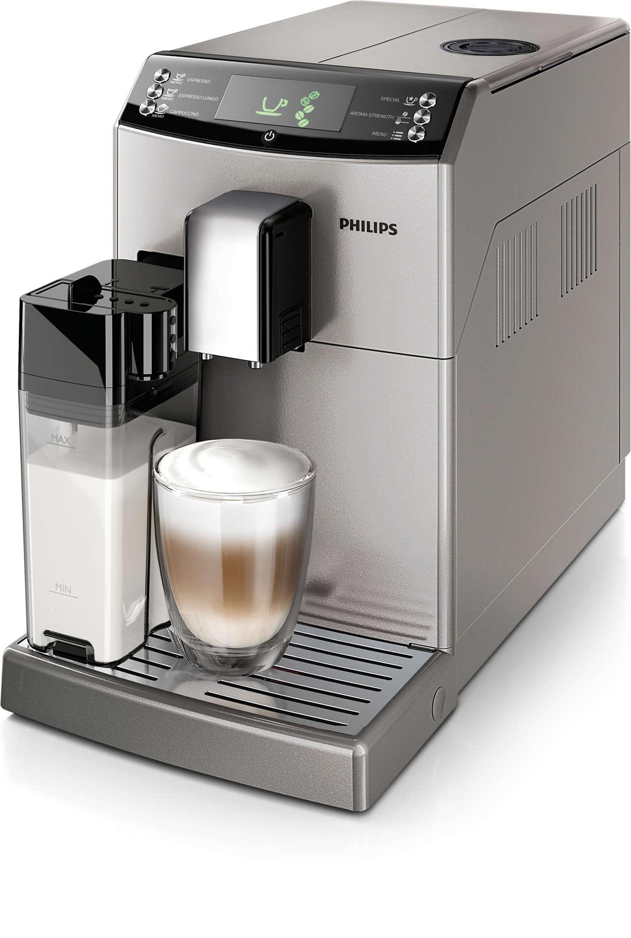 Espresso a kapučíno jedným dotykom apresne podľa vašich predstáv