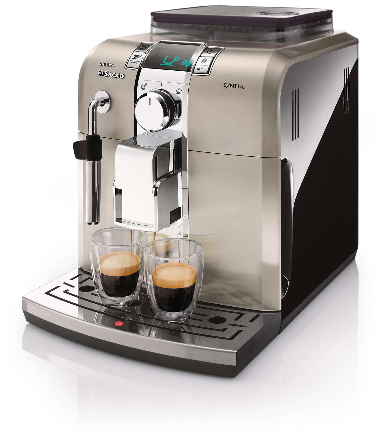 Disfrute del placer del verdadero café espresso italiano en casa