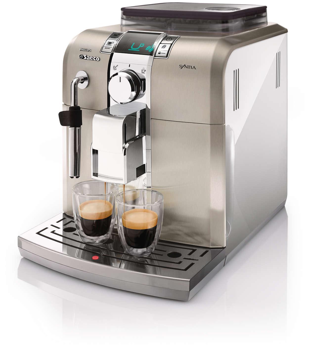 Disfruta del placer del espresso italiano en casa