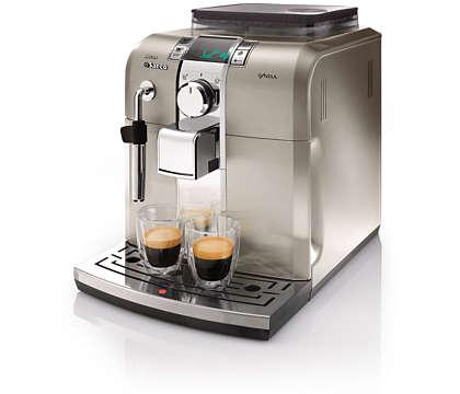 Live the pleasure of Italian espresso at home