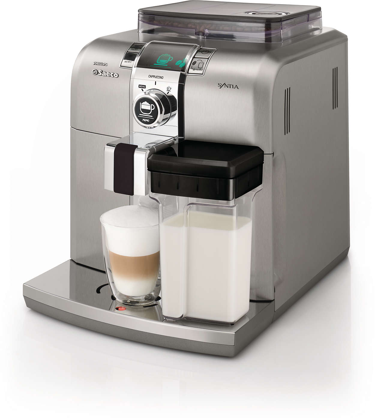 syntia super automatic espresso machine hd8838 01 saeco. Black Bedroom Furniture Sets. Home Design Ideas