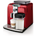 Philips Saeco Super-automatic espresso machine HD8838/31 Syntia Integrated milk jug & frother Red