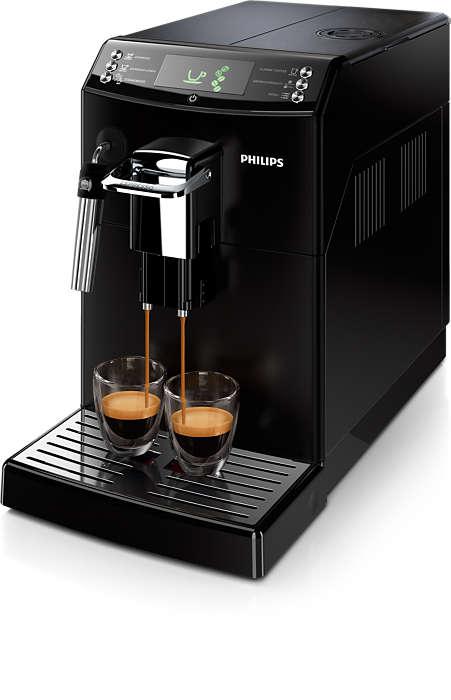 Perfekt kaffe eller espresso med Philips' unikke CoffeeSwitch