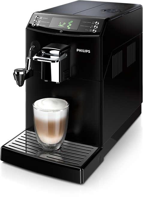 Deilig espresso og smaken av ekte filterkaffe