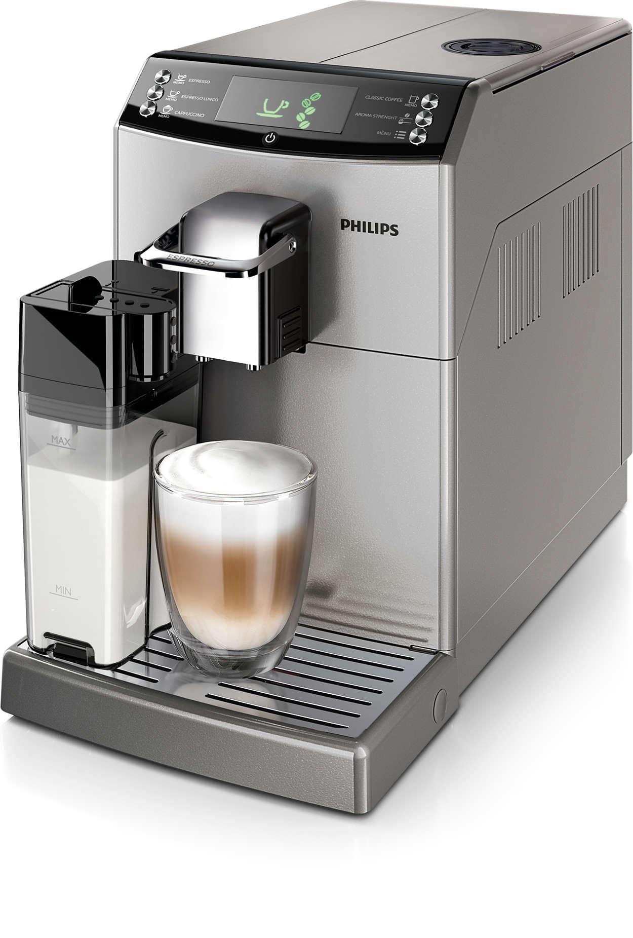 Hervorragender Espresso und sanfter Kaffee mit echtem Geschmack