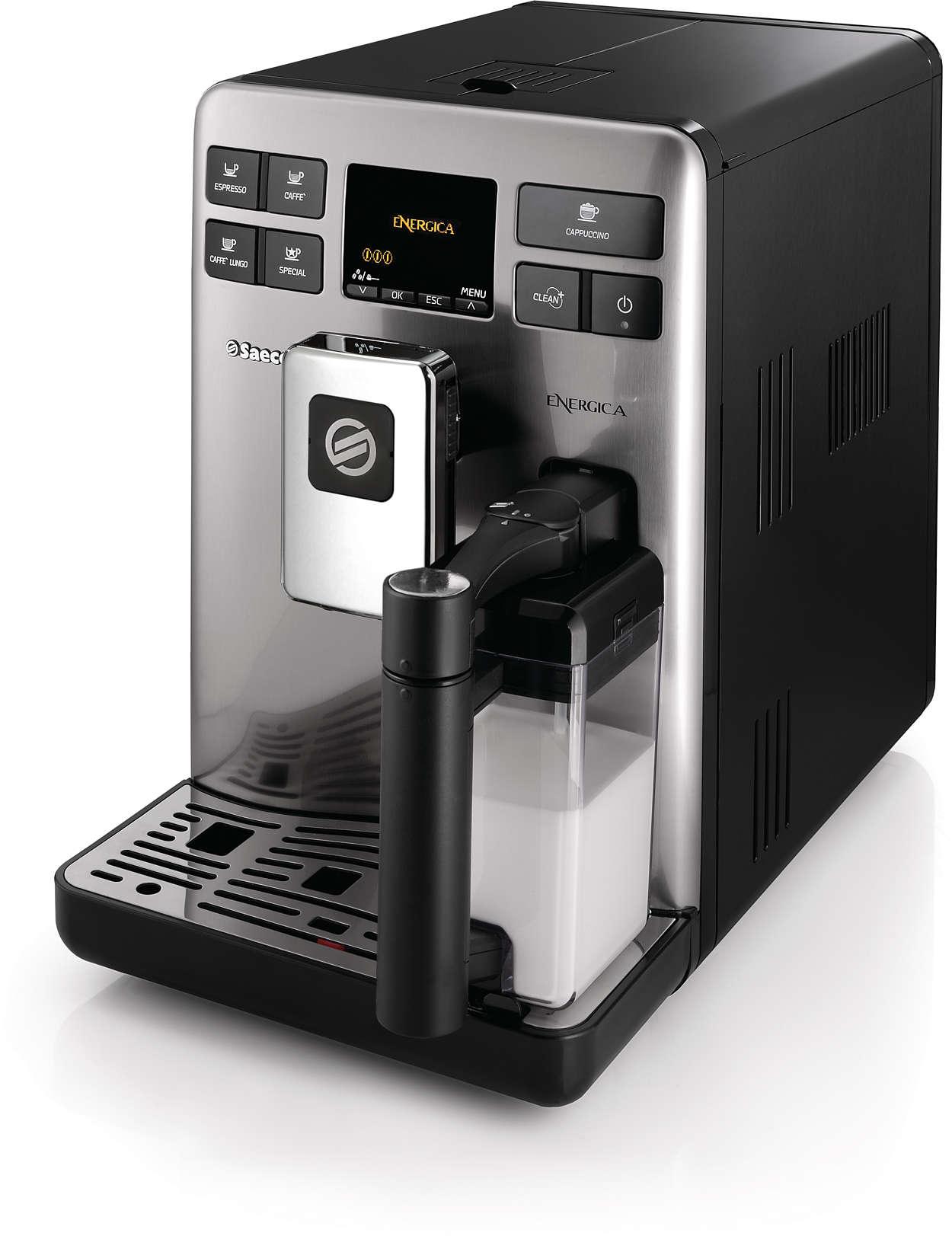 Perfekt espresso- og mælkeoplevelse