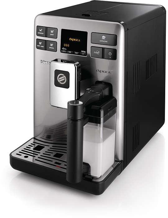 Une authentique expérience d'un espresso avec du lait