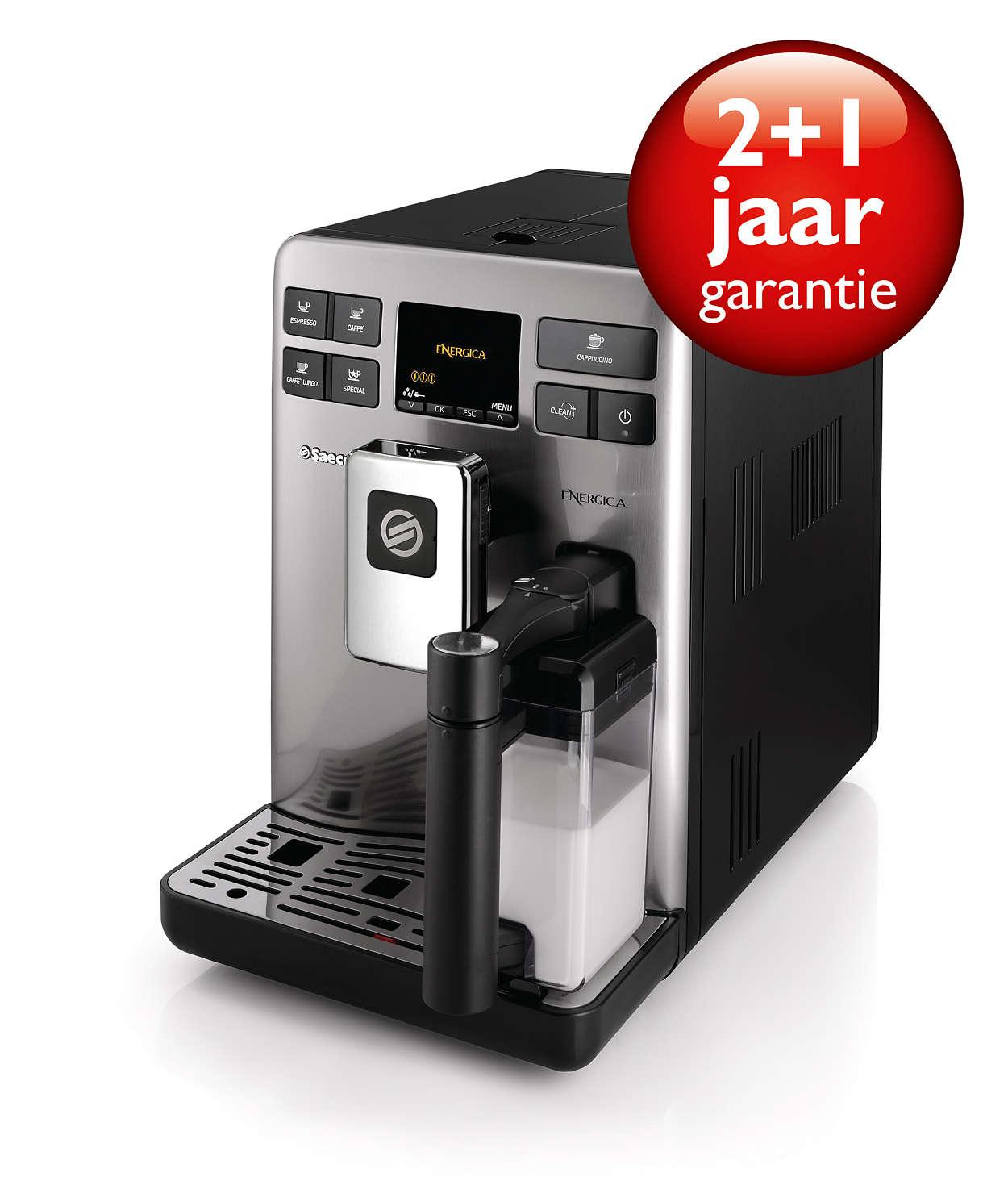 Perfecte espresso en melk