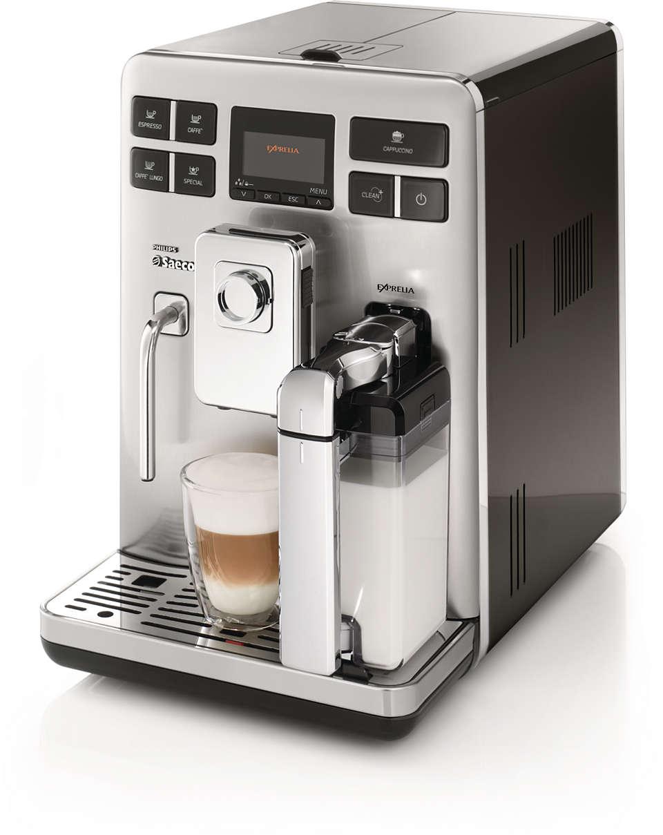 Espresso and cappuccino at a single touch