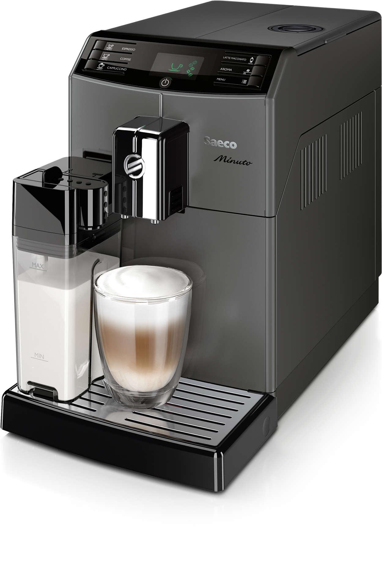 minuto kaffeevollautomat hd8867 11 saeco. Black Bedroom Furniture Sets. Home Design Ideas