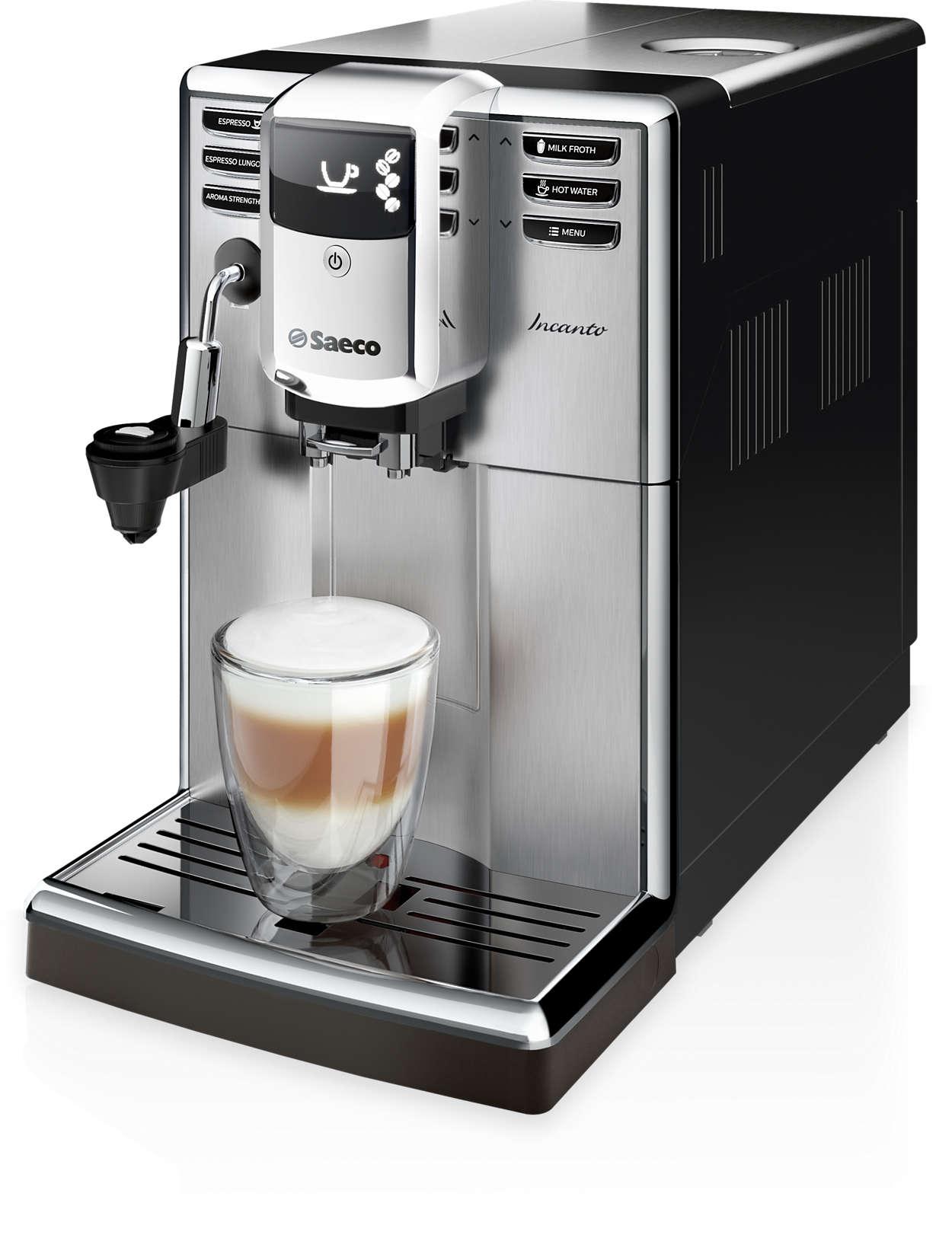 incanto super automatic espresso machine hd8914 01 saeco. Black Bedroom Furniture Sets. Home Design Ideas