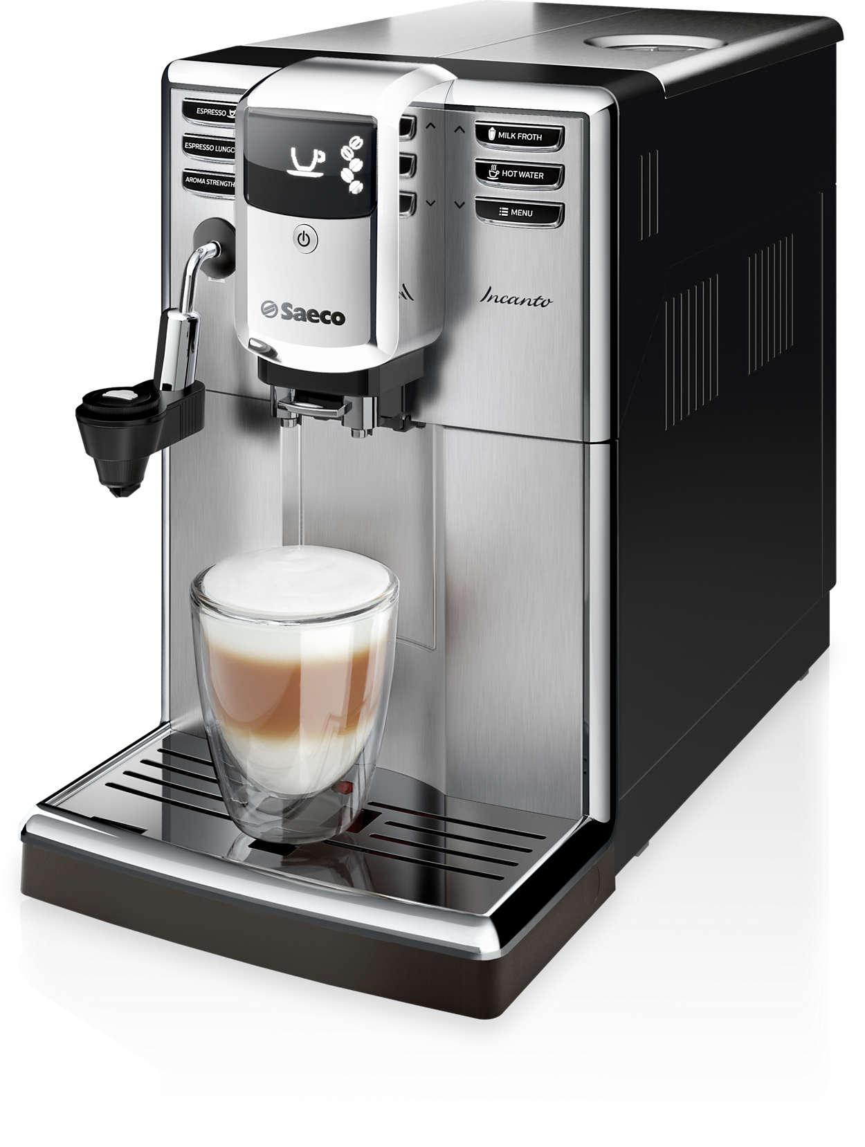 Design elegant. Calitate impresionantă a cafelei.