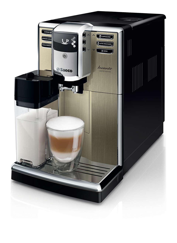 Elegantna zasnova. Izjemna kakovost kave.