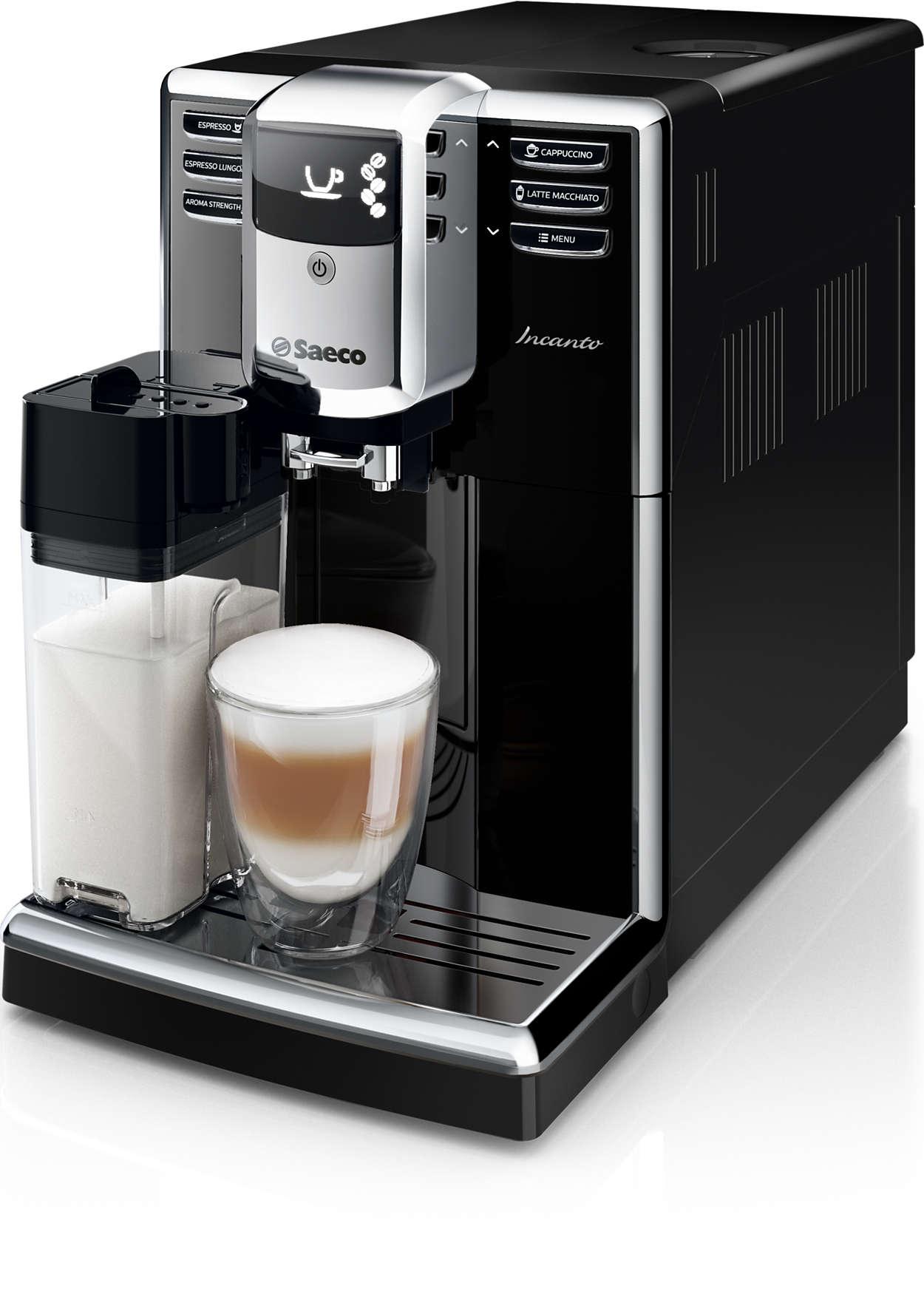 Elegantiškas dizainas. Įspūdinga kavos kokybė.
