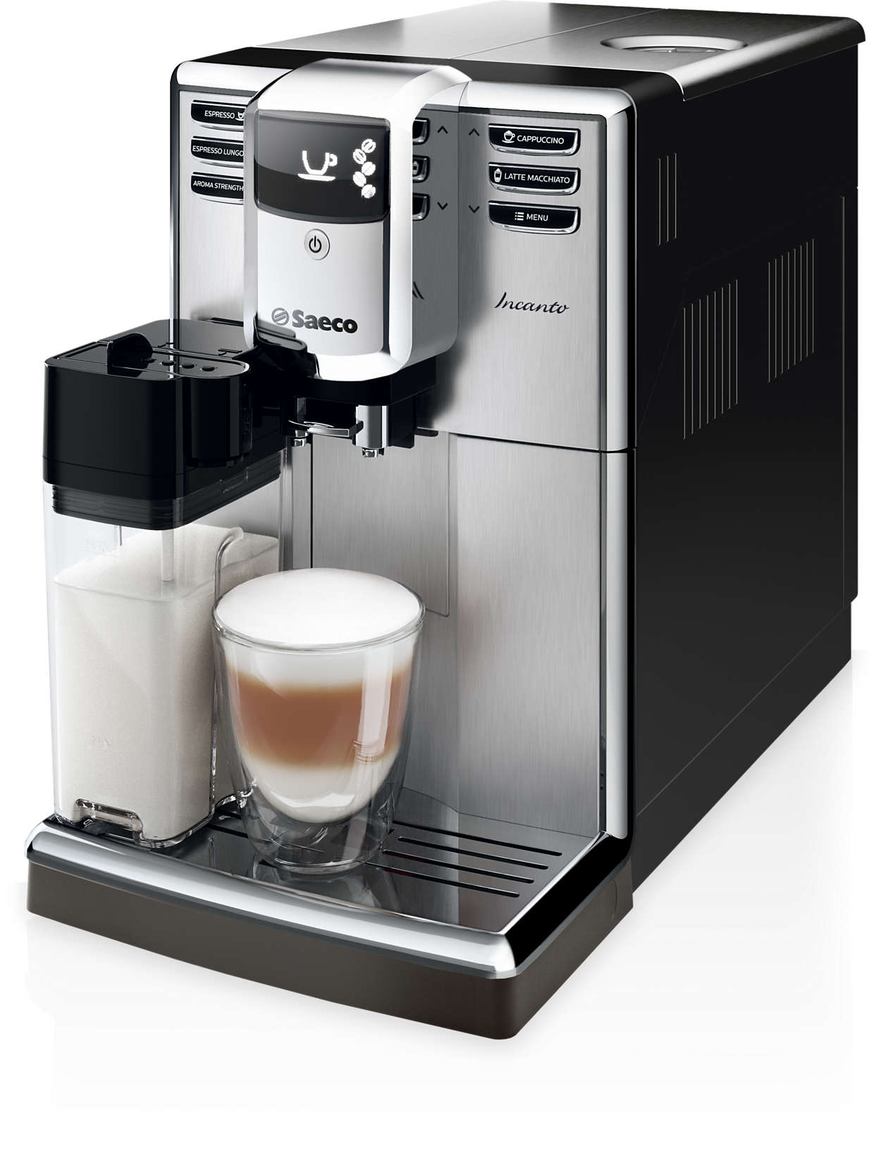 incanto super automatic espresso machine hd8917 47 saeco. Black Bedroom Furniture Sets. Home Design Ideas