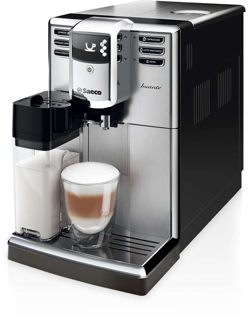 Forme élégante. Café à la qualité exceptionnelle.