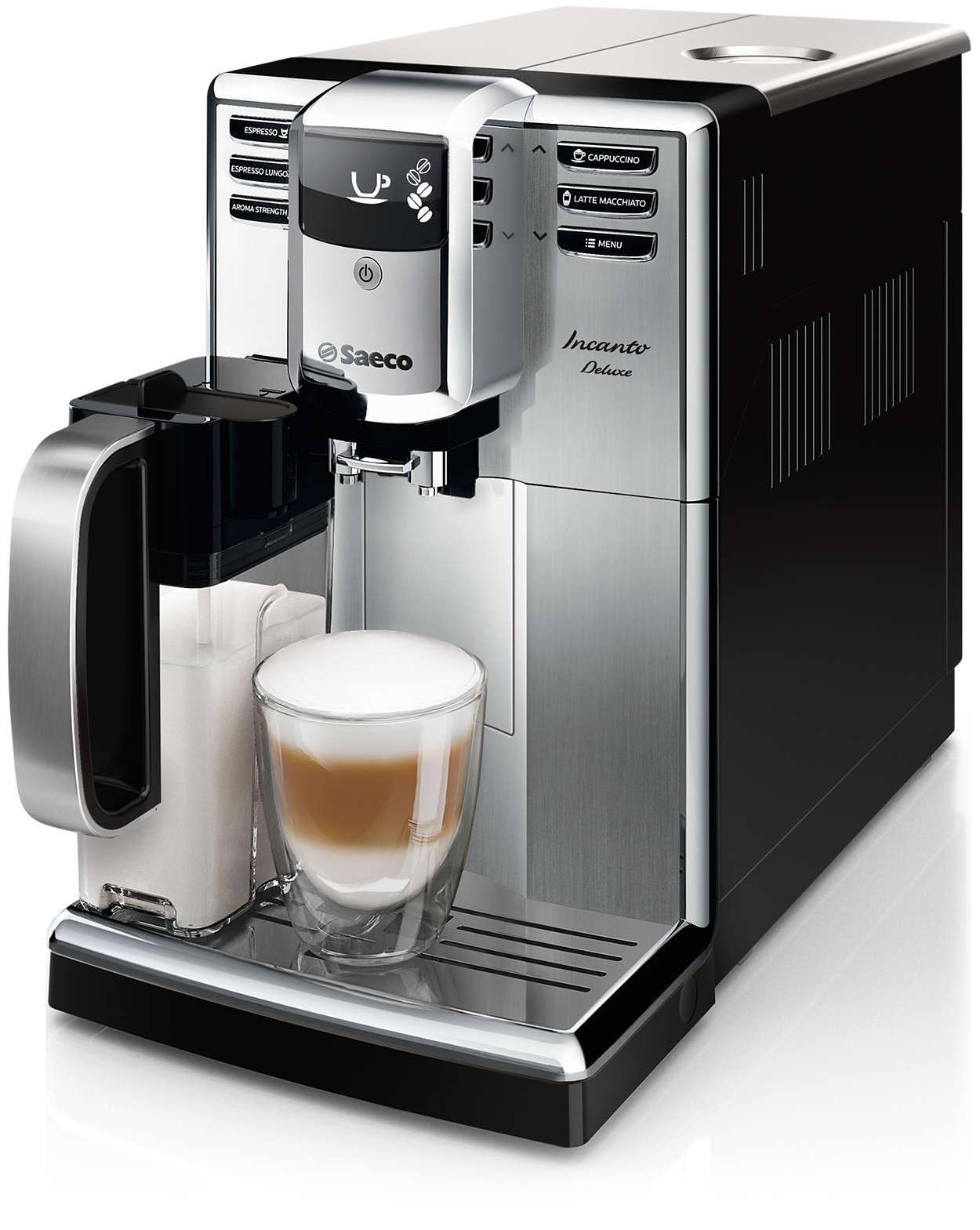 Design elegante e caffè di straordinaria qualità.
