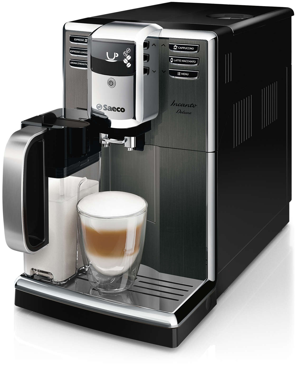 Elegantný dizajn. Pôsobivá kvalita kávy.