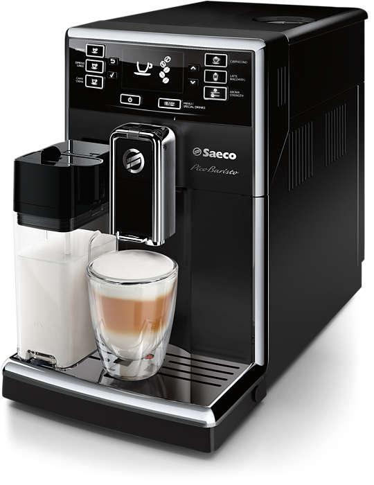 Компактная кофемашина позволяет готовить разнообразные напитки