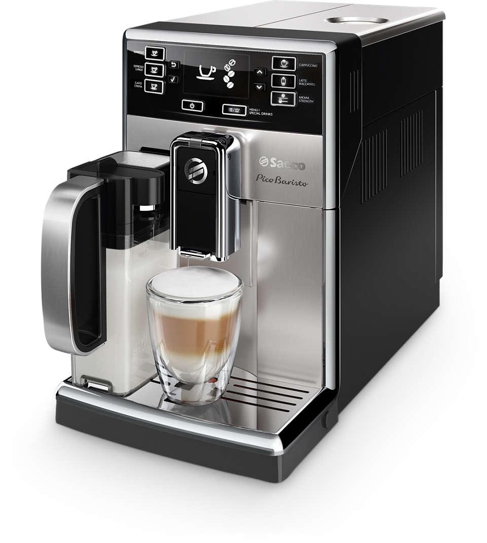 다양한 종류의 커피를 만들 수 있는 컴팩트한 기계