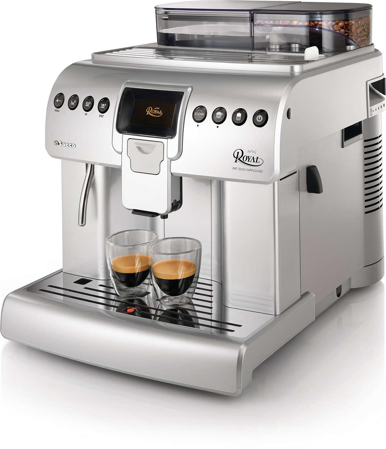 royal super automatic espresso machine hd8930 04 saeco. Black Bedroom Furniture Sets. Home Design Ideas