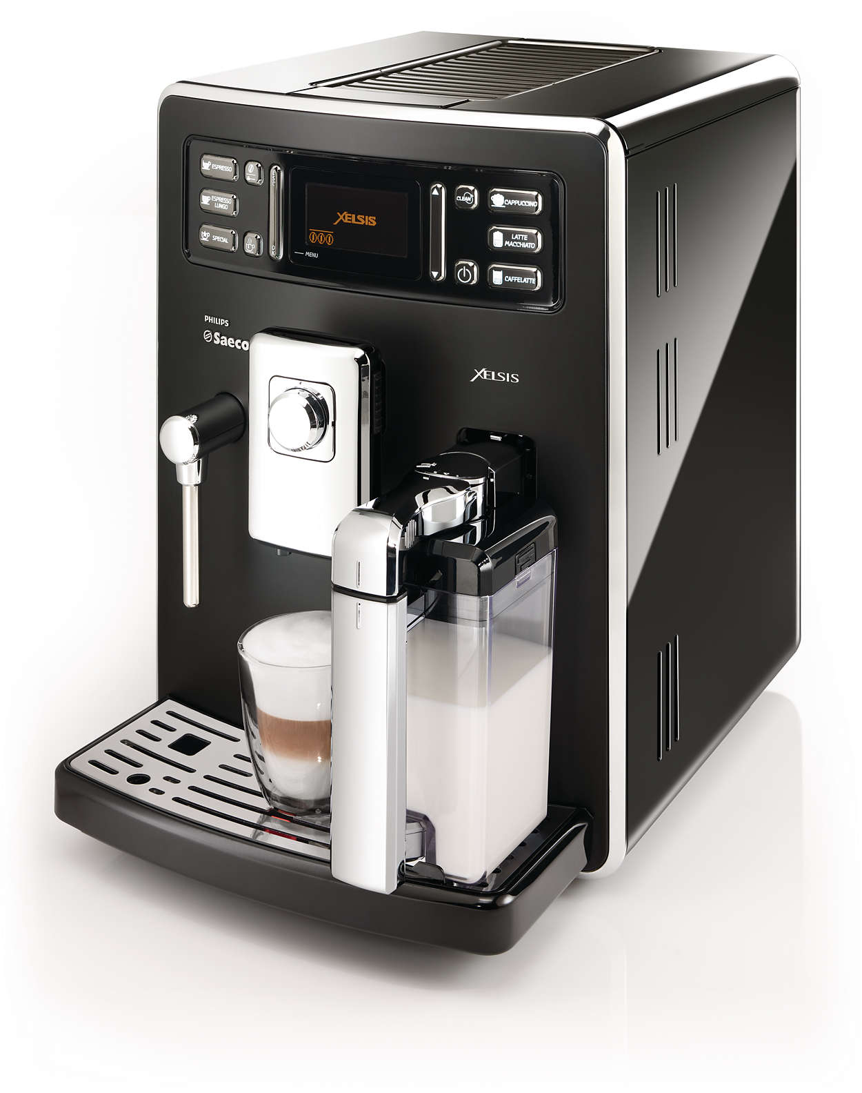syntia super automatic espresso machine hd8942 12 saeco. Black Bedroom Furniture Sets. Home Design Ideas