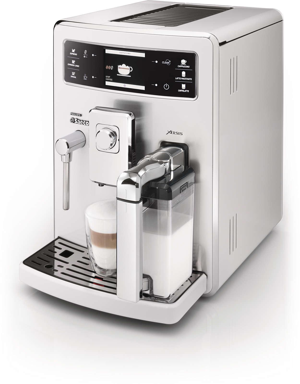 xelsis w pe ni automatyczny ekspres do kawy hd8943 29 saeco. Black Bedroom Furniture Sets. Home Design Ideas