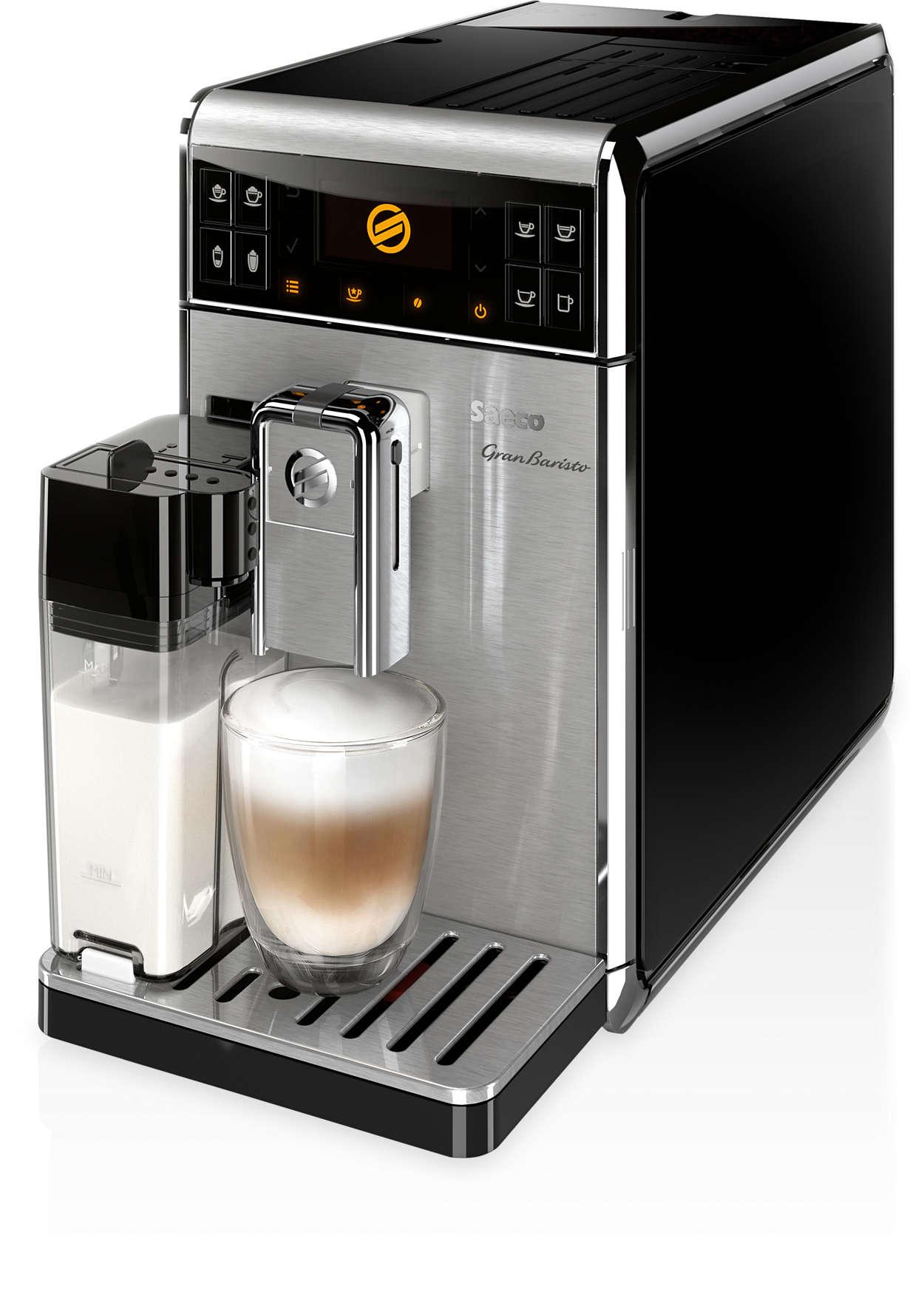 18 napojów w tym 16 napojów kawowych za dotknięciem przycisku