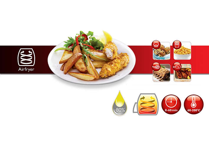 Great tasting fries with up to 80% less fat!*
