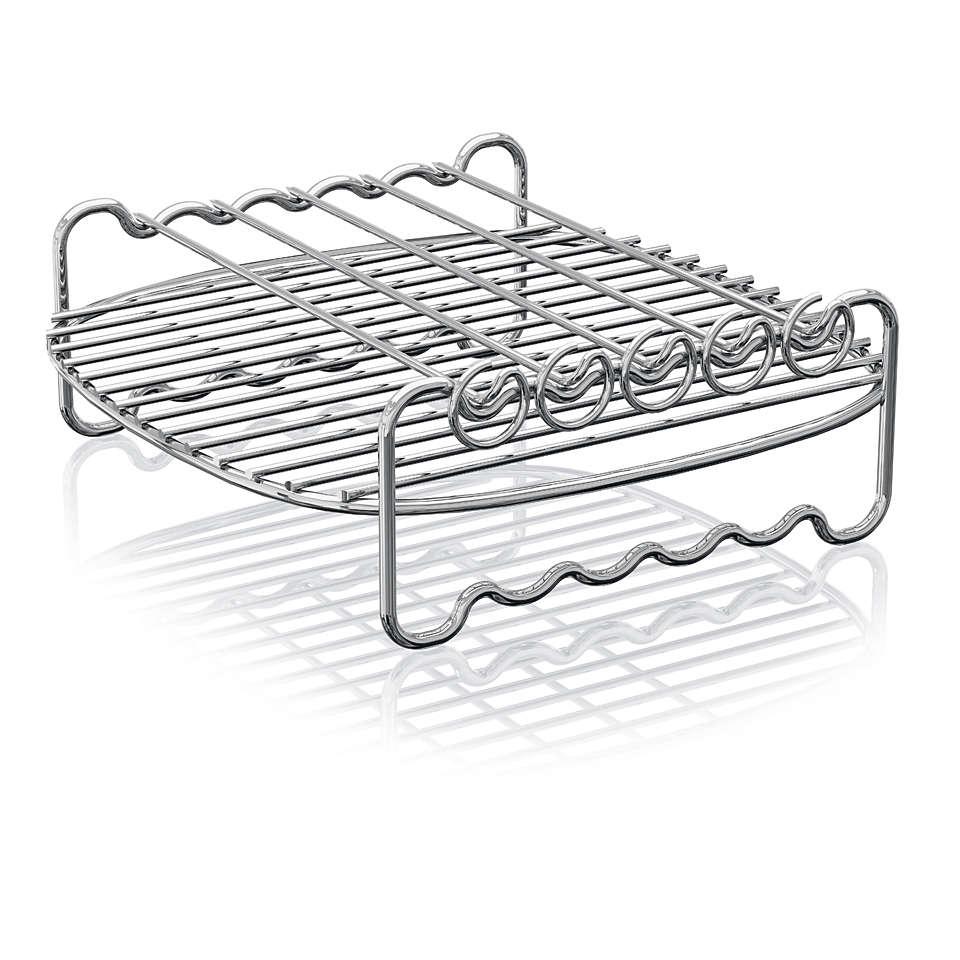 增大 Airfryer 空气炸锅的烹饪表面面积