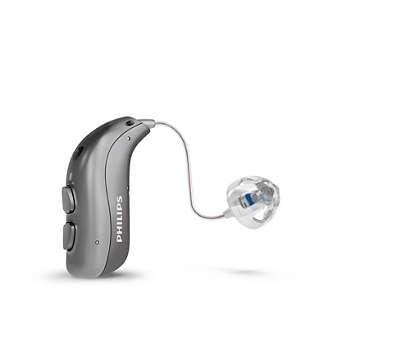 Das wiederaufladbare Receiver-in-the-Ear-Hörgerät