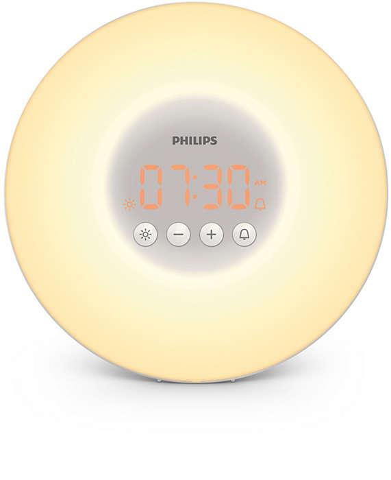 Mit Licht ausgeruhter aufwachen