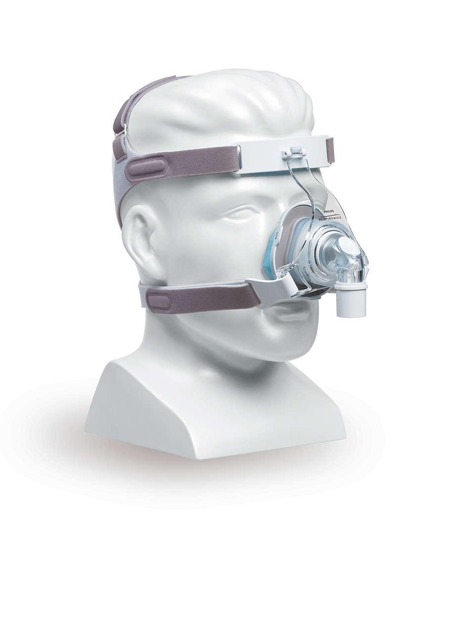 TrueBlue-geelimaski, jossa on Auto-Seal-tekniikka