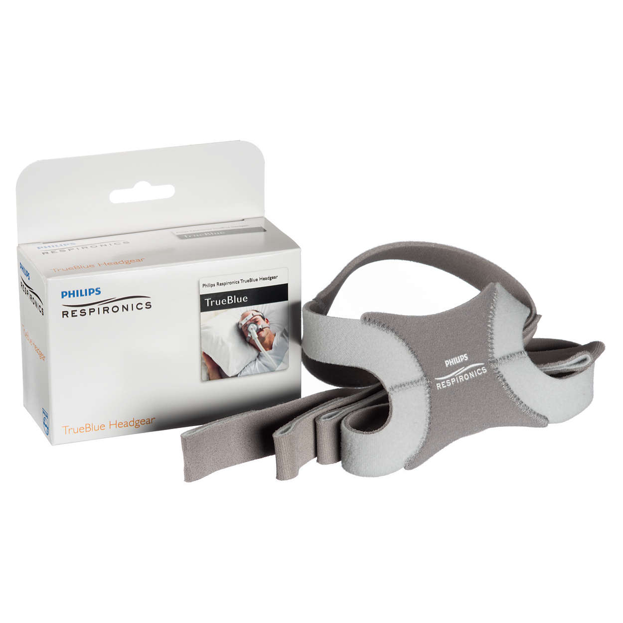 TrueBlue-hodestroppen har integrerte justerbare stropper